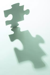 Lifestyles Puzzle piece with elongated shadow in green light - Archived Articles